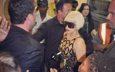 FILE: Lady Gaga arrives at Lanseria Airport in Johannesburg on 27 November 2012. Picture: Lady Gaga via Twitter.
