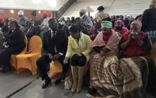 Family and friends gathering in Springs for the memorial service of Thembisile Yende. Picture: Katleho Sekhoto/EWN.