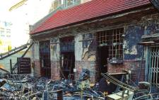 The Fireman's Arms pub after a fire. Picture: Martin Cloete