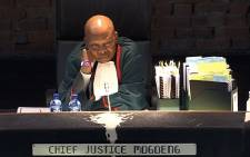 A screengrab shows Chief Justice Mogoeng Mogoeng at the Constitutional Court, on 6 March 2018. Picture: SABC Digital News/youtube.com