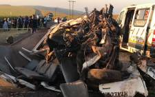 Six people were killed when two minibus taxis collided in Dalton. Picture: KZN EMS