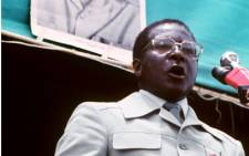 FILE: Zimbabwean Prime Minister and Zanu leader Robert Mugabe giving a speech in Harare in March 1980. Picture: AFP