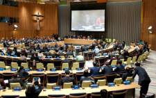 A session at the UN's Sustainable Development Summit 2015 in New York. Picture: UN.