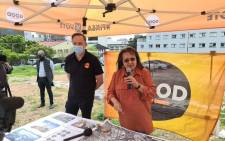 GOOD Party leader Patricia de Lille visited sites in the Cape Town metro on 27 September 2021 that she said were once earmarked for social housing development but remain unoccupied. Picture: @ForGoodZA/Twitter.