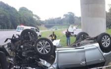 FILE: Accident scene. Picture: Picture: Twitter @Netcare911_sa.