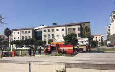 The fire is believed to have been sparked by a car that caught alight in The Gateway building's parking lot. Picture: Masa Kekana/EWN