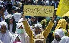 Indonesian activists protest against Myanmar in Surabaya, Indonesia's second largest city on 5 September 2017. Picture: AFP