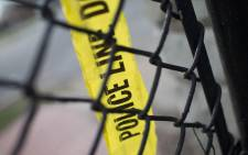 Police tape. Picture: AFP.