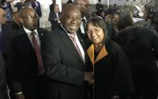 President Cyril Ramaphosa pictured with Minister of Public Works and Infrastructure Patricia de Lille. Picture: @PatriciaDeLille/Twitter