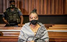 Nomia Ndlovu in the Palm Ridge Magistrates Court on 22 October 2021. Picture: Xanderleigh Dookey Makhaza/Eyewitness News