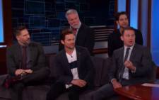 The cast of Magic Mike XXL made Jimmy Kimmel's audience scream. Picture; CNN screen grab
