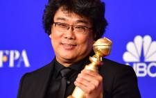 In this file photo taken on 5 January 2020 South Korean film director Bong Joon Ho poses in the press room with the award for Best Motion Picture - Foreign Language during the 77th annual Golden Globe Awards at The Beverly Hilton hotel in Beverly Hills, California. Picture: AFP