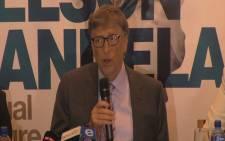 Bill Gates was the keynote speaker at the 2016 Nelson Mandela lecture. Picture: Katleho Sekhotho/EWN.