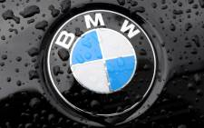 The logo of automaker BMW, pictured on a car in Munich. Picture: EPA.