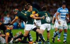 FILE. Springboks vs Argentina in their Rugby World Cup Bronze final at London's Olympic Stadium on 30 October 2015. Picture: Rugby World Cup ‏@rugbyworldcup.