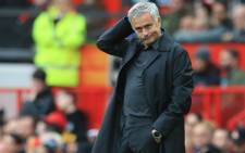 Manchester United's Portuguese manager Jose Mourinho gestures on the touchline during the English Premier League football match between Manchester United and Wolverhampton Wanderers at Old Trafford in Manchester, north west England, on 22 September 2018. The game finished 1-1. Picture: AFP