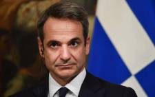 FILE: Greek Prime Minister Kyriakos Mitsotakis looks on during a joint press conference with his Italian counterpart following their meeting at Palazzo Chigi on 26 November 2019 in Rome. Picture: AFP.