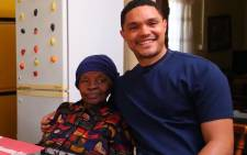 Comedian Trevor Noah and his grandmother Nomalizo Frances during the comedian's visit in Soweto. Picture: @TrevorNoah/Facebook.com.
