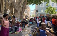 Foreign nationals are seen at the Greenmarket Square in the Cape Town CBD on 5 November 2019. Picture: Kaylynn Palm/EWN