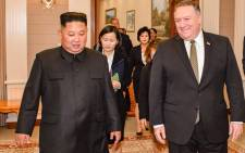 North Korean leader Kim Jong Un (left) and US Secretary of State Mike Pompeo (right) agreed to arrange a second leaders summit and discussed potential US monitoring of Pyongyang's steps toward denuclearisation. Picture: @SecPompeo/Twitter