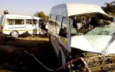 2 taxis were involved in a head-on collision in Pretoria on 30 June 2012. Picture: Netcare 911