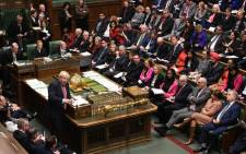 A handout photograph released by the UK Parliament shows Britain's Prime Minister Boris Johnson appearing in the House of Commons in central London on 22 January 2020, during the Prime Minister's Questions (PMQ) session. Picture: AFP