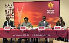 FILE: A South African Human Rights Commission panel. Picture: Katleho Sekhotho/EWN