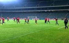 The Orlando Pirates ahead of their clash against Ajax Cape Town on 13 December 2014. Picture: Twitter via @Orlando_Pirates.