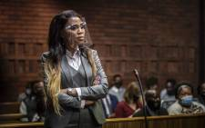 Norma Mngoma, the estranged wife of Former Finance Minister Malusi Gigaba, appears at Pretoria Magistrates Court on 14 September 2020. Picture: Abigail Javier/EWN