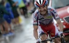 Spain's Joaquim Rodriguez rides in a breakaway during the 195 km twelfth stage of the 102nd edition of the Tour de France cycling race on 16 July 2015, between Lannemezan and Plateau de Beille, southern France. Photoshop: AFP.