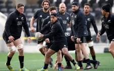 All Blacks players during a training session. Picture: @AllBlacks/Twitter