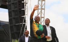 ANC President Cyril Ramaphosa at the Absa Stadium in East London, Eastern Cape on Saturday 13 January ahead of his address at the January 8 Statement. Picture: Twitter/@MYANC