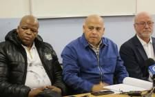 After violent protests between Siqalo and Mitchells Plain residents, The ANC in the Western Cape held a media briefing placing the blame squarely on the DA. Picture: Bertram Malgas