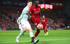 Liverpool's Sadio Mane holds off his Bayern Munich opponent during their UEFA Champions League match at Anfield on 19 February 2019. Picture: @LFC/Twitter