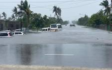 Tropical cyclone Eloise made landfall in Beira, Mozambique, on Saturday, 23 January 2021. Picture: Gauteng Weather FB