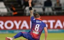Cape Town Blitz fast bowler Dale Steyn celebrates the fall of a wicket. Picture: @MSL_T20/Twitter