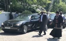 ANC President Cyril Ramaphosa arrives for a meeting with Kenyan President Uhuru Kenyatta in Durban on 12 January 2018. Picture: EWN