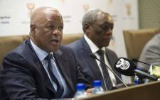Minister in the Presidency Jeff Radebe during press briefing on 7 August 2014. Picture: GCIS.