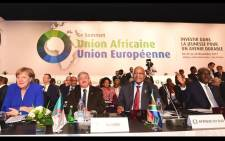President Jacob Zuma sits among African and European leaders at the AU-EU Summit. Picture: GCIS.