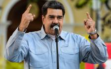 Venezuelan President Nicolas Maduro delivers a speech on the signature campaign launched to urge the United States' to put a halt to intervention threats against his government, at Bolivar square in Caracas, on 7 February 2019. Picture: AFP