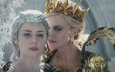 Emily Blunt and Charlize Theron in 'The huntsman: Winter's war'. Picture: YouTube screengrab.