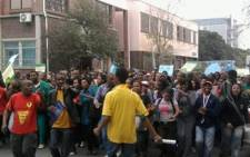 FILE: UWC students protest in Cape Town. Picture: Nathan Adams/Eyewitness News