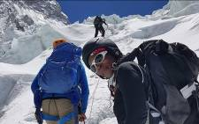 Saray Khumalo climbs Mount Everest. Picture: Summits with a purpose Facebook page