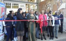 Gauteng Social Development MEC Nandi Mayathula-Khoza at the opening of the 'Gauteng Tshepo 500 000' job centre in Kliptown, Soweto 21 July 2016. Picture: katleho Sekhotho/EWN