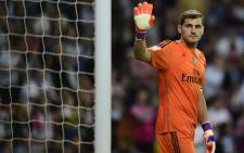 FILE: Real Madrid's goalkeeper Iker Casillas jumps for the ball during the Spanish Copa del Rey (King's Cup) football match Real Madrid CF vs RC Celta de Vigo in Madrid on January 9, 2013. Picture: AFP.