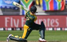South African captain AB de Villiers plays a shot during a Pool B Cricket World Cup match between South Africa and UAE (United Arab Eremites) at Wellington Regional Stadium in Wellington on 12 March, 2015. Picture: AFP.