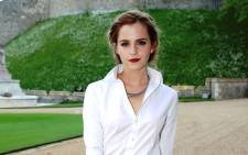 FILE: British actress Emma Watson. Picture: AFP.