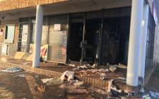 A shop looted and vandalized in Eldorado Park. Picture: Mia Lindique/EWN