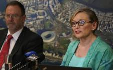 A provincial delegation, including Premier Helen Zille, met with National Disaster Management officials to discuss details around the day Cape Town's municipal water supply shuts down. Picture: Bertram Malgas/EWN