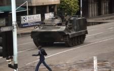 Zimbabwean soldiers at an intersection in Harare on 15 November 2017. Picture: AFP